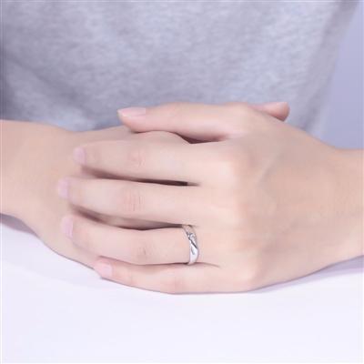 【新品】-18K金钻石情侣对戒