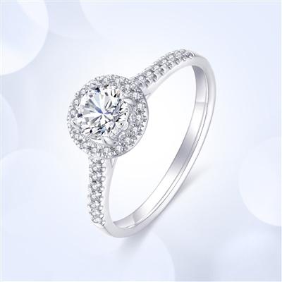 倾世—18K金钻石戒指【红宝款】