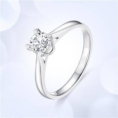 见证爱—18K金钻石戒指【镂空款】