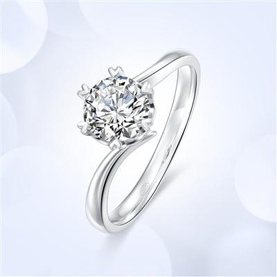心花怒放—18K金钻石戒指【红宝款】