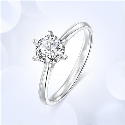 传承六爪 18K金钻石戒指