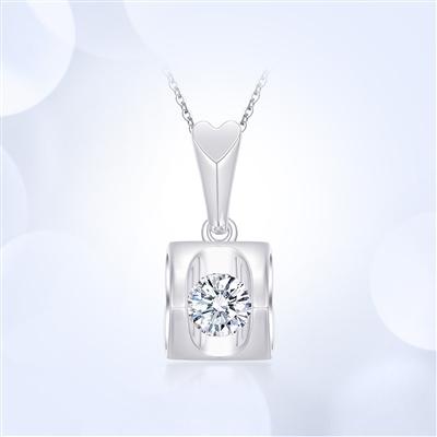 天使之吻-18K金钻石吊坠