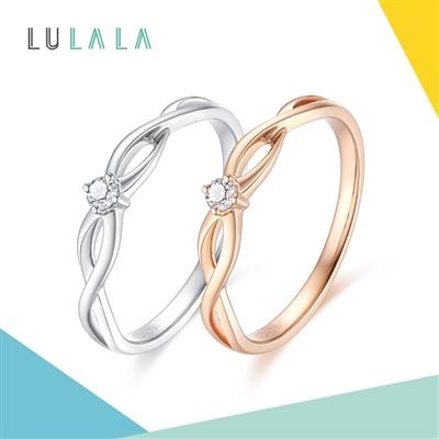 LULALA系列-萦绕 18K金钻石戒指
