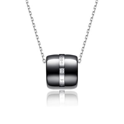 Doon瓷铂金钻石链坠