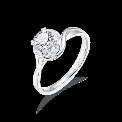 【叶一茜同款】花恋铂金钻石戒指