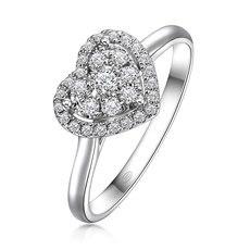 不忘初心-18K金钻石戒指
