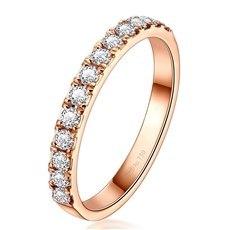 公主花冠(K彩)-18K金钻石戒指(新品)