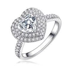 珍惜爱-18K金心形钻石戒指