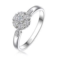 锦簇花团 - 18K金钻石戒指(新品)