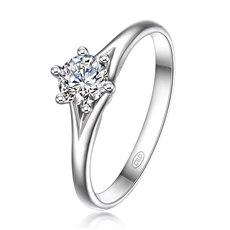 公主皇冠② - 18K金钻石戒指(新品)