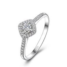 绚烂  - 18K金钻石戒指(新品)