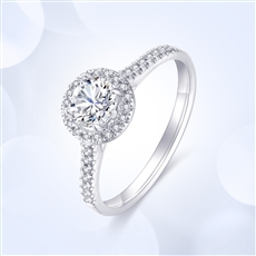 傾世—18K金鉆石戒指【紅寶款】