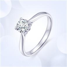 18K金钻石戒指  G0890