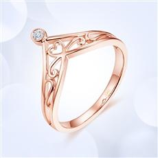 【新品】-18K金钻石女戒