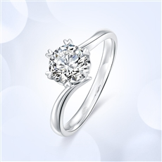 心花怒放 18K金钻石戒指?#20928;?#30784;款】