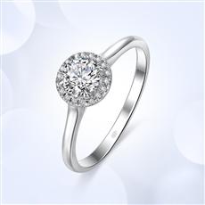倾世 18K金群镶钻石戒指【副钻款】
