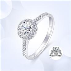 倾世—18K金钻石戒指【副钻款】