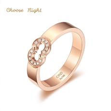 Choose Right系列 18K金钻石对戒Q0498