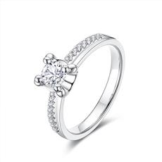 Choose Right系列 18K金钻石戒指【海豚爪】