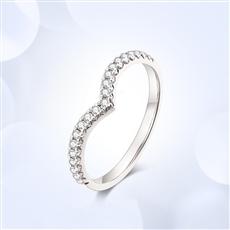 铂金钻石戒指 Q0427C