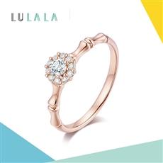 LULALA系列-悅己 18K金鉆石戒指