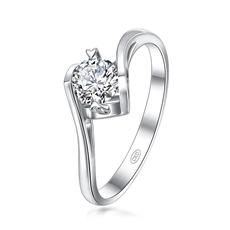 摯愛經典-天使之吻 鉑金鉆石戒指
