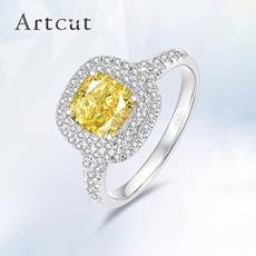 Artcut铂钻系列-Allure倾城彩钻 铂金钻石戒指