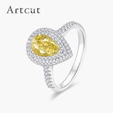 Artcut铂钻系列 彩钻铂金钻石戒指