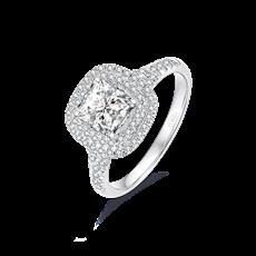 Artcut铂钻系列-Allure倾城 铂金钻石戒指