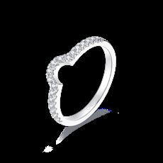 单C铂金钻石戒指