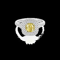 Allure倾城 彩钻铂金钻石戒指