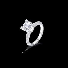 双C铂金钻石戒指