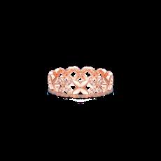 四瓣花钻石戒指