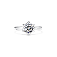 誓言 铂金钻石戒指