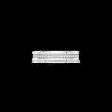 几何窗格铂金钻石戒指