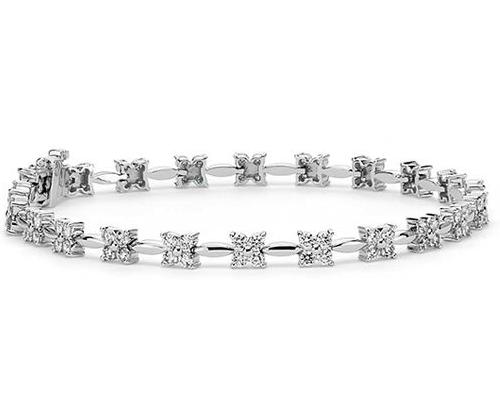 铂金钻石手链