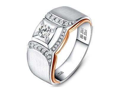 男款霸气钻石戒指