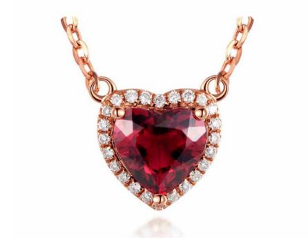 红宝石彩金钻石吊坠怎么样