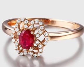红宝石戒指图片欣赏