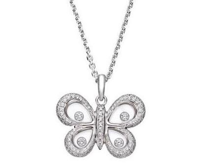 周大福蝴蝶鉆石項鏈的價格是多少