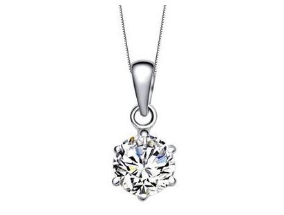 女式钻石项链价格贵不贵