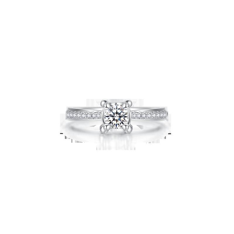海豚款铂金钻石戒指