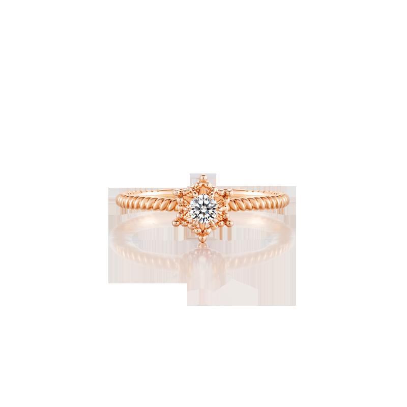 六芒星钻石戒指