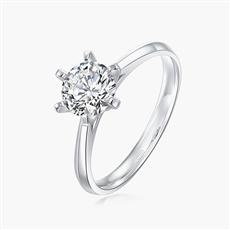 传承六爪—18K金钻石戒指
