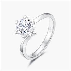 心花怒放—18K金钻石戒指【简单款】