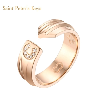 Saint Peter's Keys系列 18K金钻石情侣戒
