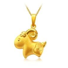 羊小花-黄金吊坠【3D硬金】
