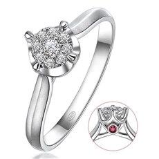 【七夕 · 1314元秒杀】守护一生 - 18K金钻石戒指