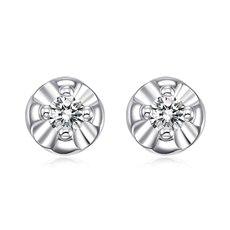 花蕊-钻石耳钉