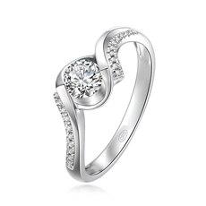 【新品】克徕帝-18K金钻石戒指